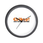 Crikey Crocodile Hunter Wall Clock