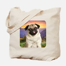 Pug Meadow Tote Bag
