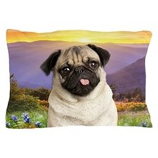 Pug Meadow Pillow Case