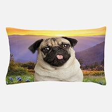 Pug Meadow Pillow Case