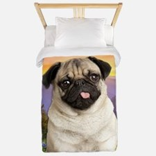 Pug Meadow Twin Duvet