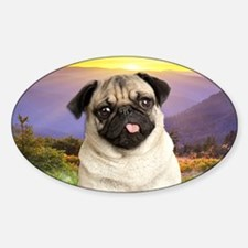 Pug Meadow Decal