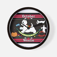 Westie Calendar dog Wall Clock