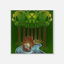 "Bear of Wisdom Square Sticker 3"" x 3"""