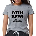 FIN-beer-all-things... Womens Tri-blend T-Shirt