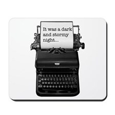 Dark and stormy night typeweriter Mousepad