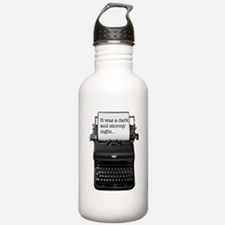 Dark and stormy night typeweriter Water Bottle