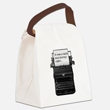 Dark and stormy night typeweriter Canvas Lunch Bag