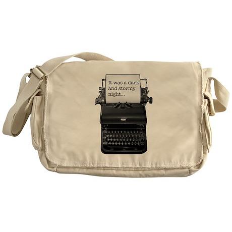 Dark and stormy night typeweriter Messenger Bag