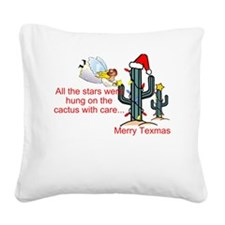 Christmas Cactus Square Canvas Pillow