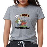 FIN-grill-therefore-i-am.png Womens Tri-blend T-Sh