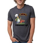 FIN-grill-therefore-i-am.png Mens Tri-blend T-Shir