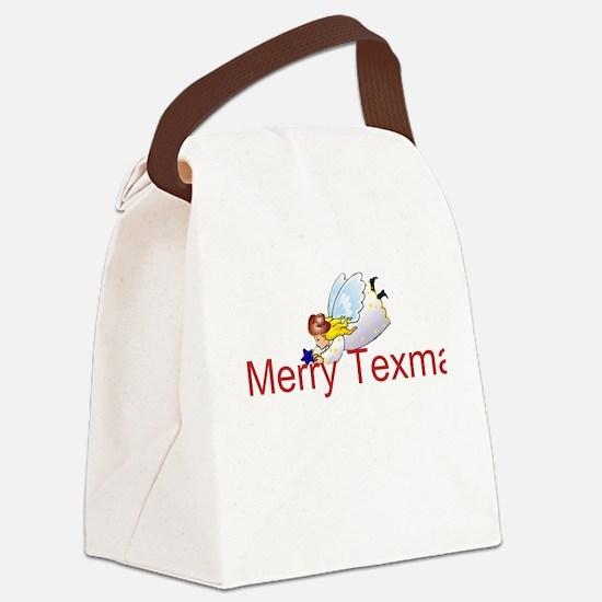 Merry Texmas Angel Canvas Lunch Bag