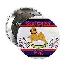 Pug Calendar Rocking Dog Button