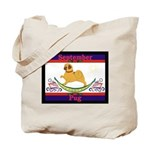 Pug Calendar Rocking Dog Tote Bag