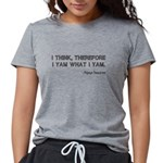 FIN-popeye-descartes.png Womens Tri-blend T-Shirt