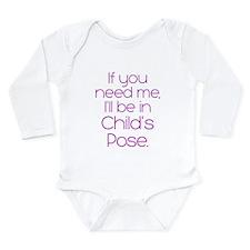 In Child's Pose Long Sleeve Infant Bodysuit