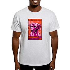 Rhodesian RIDGEBACK Peace! Ash Grey T-Shirt