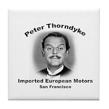 Mr Thorndyke's Tile Coaster