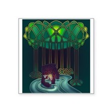 "Fae Bear of WIsdom Square Sticker 3"" x 3"""