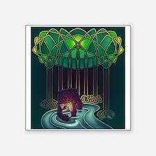 "Fae Bear of WIsdom Square Sticker 3"" x 3"""