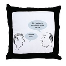 outsideofthebox.png Throw Pillow