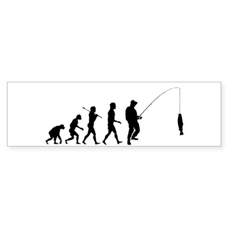 Fishing Evolution Sticker (Bumper)