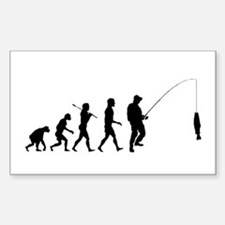 Fishing Evolution Sticker (Rectangle)