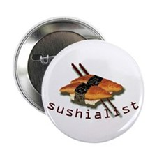 humorous sushi Button