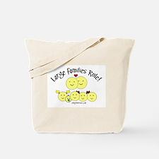 Large Families rule logo Tote Bag