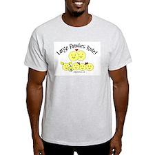 Large Families rule logo Ash Grey T-Shirt