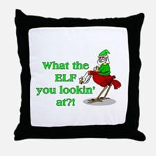 Elf You Lookin At Throw Pillow