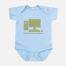 desktop hates progress Infant Bodysuit
