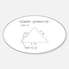 Blonde Geometry Decal