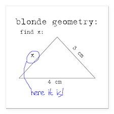 "Blonde Geometry Square Car Magnet 3"" x 3"""