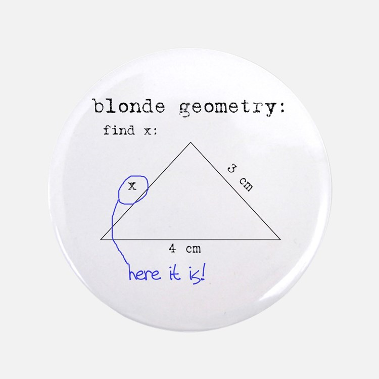 "Blonde Geometry 3.5"" Button"