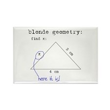 Blonde Geometry Rectangle Magnet