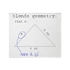 Blonde Geometry Throw Blanket
