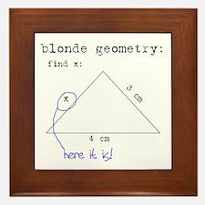 Blonde Geometry Framed Tile