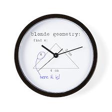 Blonde Geometry Wall Clock