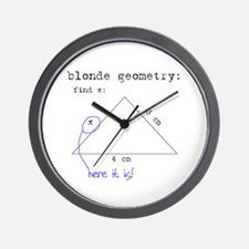 Blonde Geometry Wall Clock
