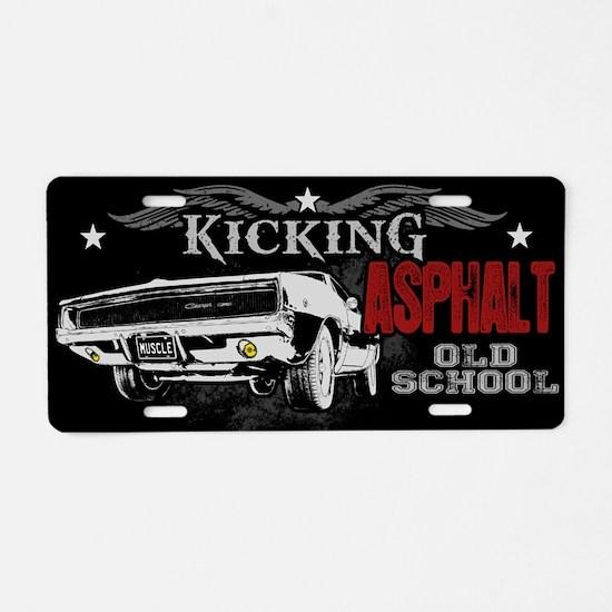 Kicking Asphalt - Charger Aluminum License Plate
