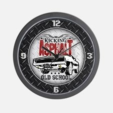 Kicking Asphalt - Charger Wall Clock