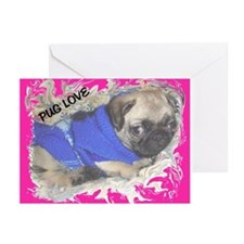 Love A Pug Greeting Cards (Pk of 10)