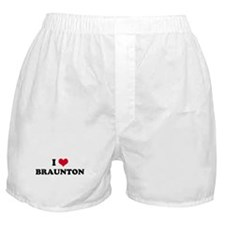 I HEART BRAUNTON  Boxer Shorts