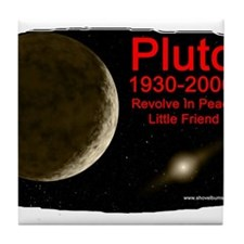 Revolve In Peace Pluto Tile Coaster