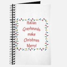 Merry Italian Greyhound Journal