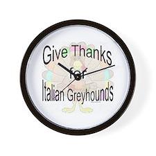 Thanks for Italian Greyhound Wall Clock