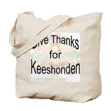 Thanks for Keeshond Tote Bag