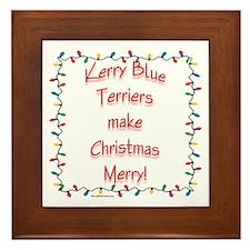 Merry Kerry Blue Framed Tile